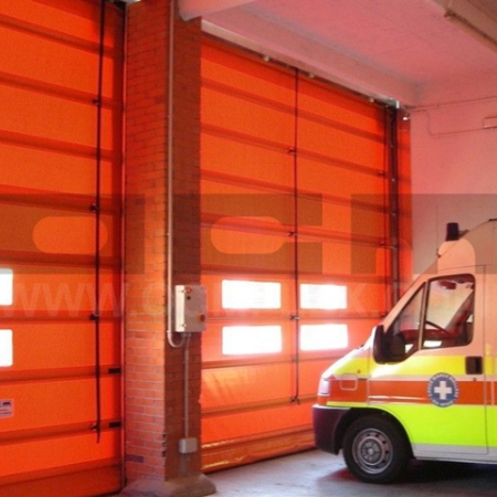 High-speed doors for machinery