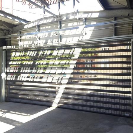 Perforated Roller Shutter Doors Airflow