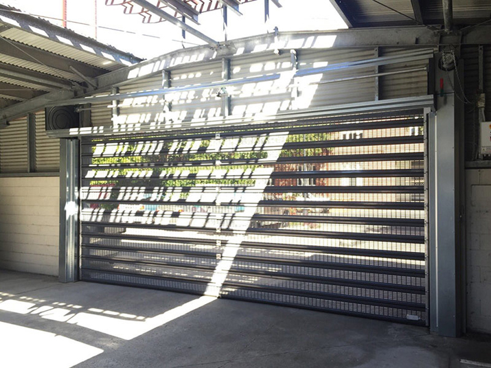 Perforated Roller Shutter Doors Airflow