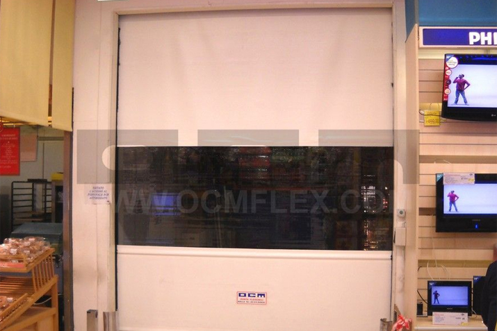 Roll-up High Speed Door combined with conveyor systems
